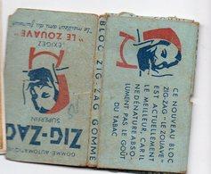 (tabac) étui De Papier à Cigarettes ZIG ZAG  LE ZOUAVE  Plein Ou Quasi Plein (PPP19754) - Advertising Items