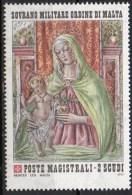 PIA - SMOM - 1977 :  Natale - La Vergine Con Il Bambino  - Affresco Del Perugino - (UN  155) - Malte (Ordre De)