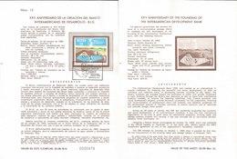 V) 1985 MEXICO, XXV ANNIVERSARY OF THE FOUNDING OF THE INTERAMERICAN DEVELOPMENT BANK, FDB - Mexico