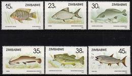 Simbabwe MiNr. 406/11 ** Fische - Sonstige - Afrika