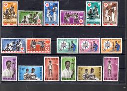 RWANDA 44/51 + 67/69 +70/75 TOUS** SUR LA CROIX ROUGE LA JOURNEE METEOROLOGIQUE MONDIALE ET LA MAISON D ENFANTS HANDICAP - 1962-69: Nuovi