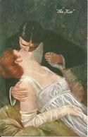 """Coppia Di Innamorati """"the Kiss"""", Riproduzione Da Orig., Reproduction, Illustrazione, (E28) - Coppie"""