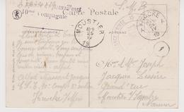 """KNOCKE - Courrier D'un Soldat Du """"CORPS SPECIAL DE TRAVAILLEURS"""" 10ème Compagnie - Cachet CORRESPONDANCE PRIVEE  Voir... - Marcophilie"""
