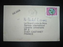 LETTRE TP CAISSE D'EPARGNE 250F OBL.9-2 1993 YAOUNDE NLONGKAK DEPART - Camerun (1960-...)