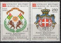 PIA - SMOM - 1983 : Convenzione Postale Con La Repubblica  Del Togo   - (SAS  A3-A4) - Sovrano Militare Ordine Di Malta