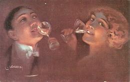 Coppia Di Innamorati, Il Brindisi, Riproduzione Da Orig., Reproduction, Illustrazione, (E32) - Coppie