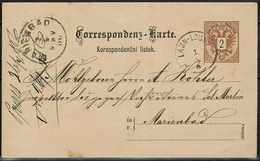 KuK - Böhmen  Čechy - Karte Von Laun-Louny Nach Marienbad (Sudetenland) - Ganzsachen