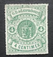 LUXEMBURG   1865    Nr. 15    Niet Gebruikt  (*)     CW  50,00 - 1859-1880 Wappen & Heraldik