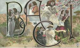 """Coppie Di Innamorati, """"Baci"""", Riproduzione Da Orig., Reproduction, Illustrazione, (E38) - Coppie"""