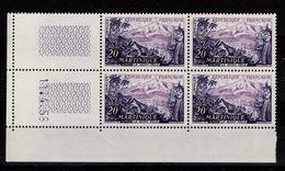Coin Daté - YV 1041 N** Martinique Coin Daté Du 11.4.56 - 1950-1959