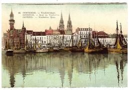 OOSTENDE - OSTENDE - Vindictivekaai - Quai De Vindictive - Carte Colorisée - Oostende