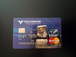 Hungary Volksbank - Master Card Used - Cartes De Crédit (expiration Min. 10 Ans)