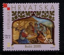 CROATIA 2000 Christmas MNH / **.  Michel 559 - Croatie