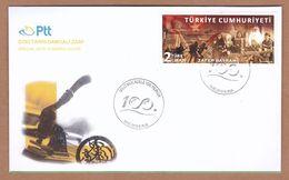 AC - TURKEY FDC - 100 YEAR OF THE NATIONAL STRUGGLE BURSA, 19 MAY2019 - 1921-... Republik
