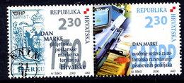 CROATIA 2000 Stamp Day Pair MNH / **.  Michel 556-57 - Croatie