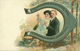 Coppia Di Innamorati, Ferro Di Cavallo, Riproduzione Da Orig., Reproduction, Illustrazione, (E43) - Coppie