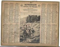 CALENDRIER De 1912 - Format 26.5 X 21 Cm - 1 Feuillet Au Verso De La Gironde - Kalender