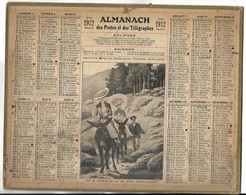 CALENDRIER De 1912 - Format 26.5 X 21 Cm - 1 Feuillet Au Verso De La Gironde - Calendari