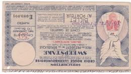 BILLET CROIX ROUGE LUXEMBOURGEOISE  , SWEEPSTAKE Prix  President De La République Paris Auteuil  1934 - Luxembourg
