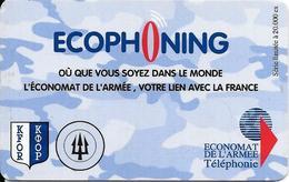 CARTE-PREPAYEE-MILITAIRE- ECOPHONING-DIVISION TRIDANT-BLEU-PALE-20000Ex-TBE - France