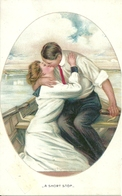 Coppia Di Innamorati In Barca, Riproduzione Da Orig., Reproduction, Illustrazione, (E44) - Coppie