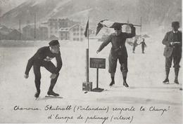 REPRODUCTION PHOTO  PRESSE  17  Cm X 11,8   Cm   PATINAGE DE VITESSE. CHAMONIX. SKUTNABB ( FINLANDAIS ) CHAMPION - Figure Skating