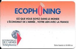 CARTE-PREPAYEE-MILITAIRE- ECOPHONING-ORANGE-10000Ex-TBE - France