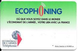 CARTE-PREPAYEE-MILITAIRE- ECOPHONING-VERTE-10000Ex-TBE - France