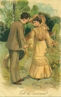 Coppia Di Innamorati, Riproduzione Da Orig., Reproduction, Illustrazione, (E47) - Coppie