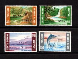 KENYA  UGANDA  TANZANIA    1966    Tourism      Set  Of  4    MH - Kenya, Uganda & Tanganyika