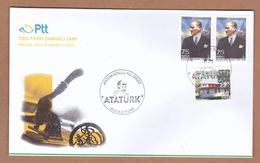 AC - TURKEY FDC - ATATURK THEMED STAMP EXHIBITION IZMIR, 20 - 23 MAY2019 - 1921-... República