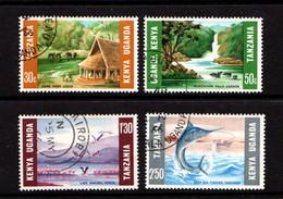 KENYA  UGANDA  TANZANIA    1966    Tourism      Set  Of  4    USED - Kenya, Uganda & Tanganyika