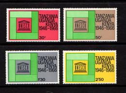 KENYA  UGANDA  TANZANIA    1966    20th  Anniv  Of  UNESCO      Set  Of  4    MH - Kenya, Uganda & Tanganyika