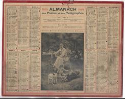 CALENDRIER De 1919 - Format 26.5 X 21 Cm - 1 Feuillet Au Verso De La Gironde - Grand Format : 1901-20