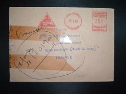 LETTRE EMA SJ 9690 à 250 Du 10 I 90 DIEGO SUAREZ + Griffe Linéaire Rouge ANTSIRANANA - Madagascar (1960-...)