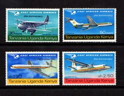 KENYA  UGANDA  TANZANIA    1967    21st  Anniv  Of  East  African  Airways      Set  Of  4    MH - Kenya, Uganda & Tanganyika