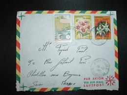LETTRE TP FLEURS 12F + 8F + ELECTRIFICATION 5F OBL.28-12 1964 DIEGO SUAREZ - Madagascar (1960-...)