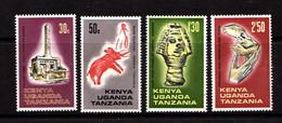 KENYA  UGANDA  TANZANIA    1967    Archaeological  Relics      Set  Of  4    MH - Kenya, Uganda & Tanganyika