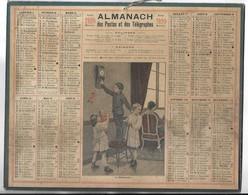 CALENDRIER De 1920 - Format 26.5 X 21 Cm - 2 Feuillets Au Verso De La Gironde - Grand Format : 1901-20