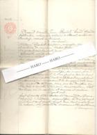 Acte Notarié - Bomal - Verlaine (Tohogne) Testament Au Dernier Vivant Les Biens  Couple Coquay / Baudouin 1882 (b258) - Manuscrits