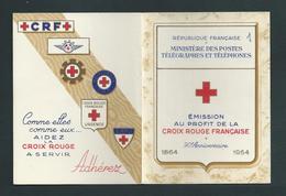 FRANCE - CARNET CROIX-ROUGE 1954 - NEUF** - E. CARRIERE/ J.B GREUZE - 90ème ANNIVERSAIRE - - Red Cross
