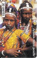 CARTE-PUCE-AFRIQUE-MALI-SC7 SCHLUM-SOTELMA-JEUNES FILLES PEULH-V°N°003445906-TBE- - Mali
