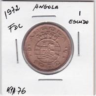 PORTUGUESE ANGOLA COIN - 1 ESCUDO 1972 - Angola