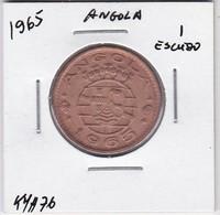 PORTUGUESE ANGOLA COIN - 1 ESCUDO 1965 - Angola