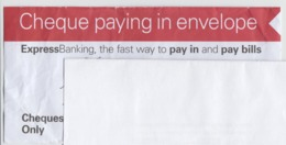 UK - England - Express Bank - Cheques Envelope, Letter - Cheques & Traverler's Cheques