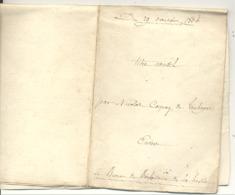Acte Notarié - Bomal - DURBUY - TOHOGNE - Bureau De Bienfaisance De La Hesse 1804 / 1860 (b258) - Manuscrits