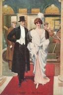 """Coppia Di Innamorati, Serata Di Gala, """"Supper On The Savoy"""", Riproduzione Da Orig., Reproduction, Illustrazione, (E54) - Coppie"""