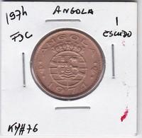 PORTUGUESE ANGOLA COIN - 1 ESCUDO 1974 - Angola