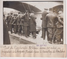 PONT DE L'ARCHEVÊCHÉ M LÉPINE BRIGADIER BRIGADE FLUVIALE L'AUTOBUS  18*13CM Maurice-Louis BRANGER PARÍS (1874-1950) - Coches