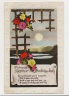 AJ03 Greetings - Family Birthday, Nephew, Flowers, Lake, Moon - Birthday